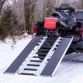 SNO-TRI-FOLD 7 10 L x 54 W Black Ice Tri-Fold Snowmobile Ramps - 1500 lb Capacity 1