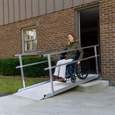SSGHR Silver Spring Aluminum Wheelchair Access Ramps with Handrails 2