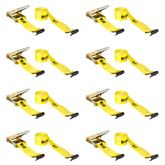 TD4-27FF-8 8 Pack - 17 L x 4 W - BA Products Ratchet Tie-Down Strap with Flat Hooks