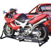 VH-SPORT-RO With Ramp - VersaHaul Steel Motorcycle Carrier - 600 lb Capacity