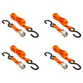 VH-Strap-C-10-O 4-Pack of 1 x 10 Cam Buckle Straps with S-Hooks