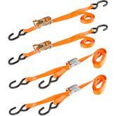 VH-Strap-O 1 x 6 Cam Buckle  Ratchet Straps Kit with S-Hooks - 4-pk