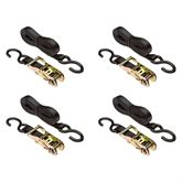 VH-Strap-R-16 4-Pack of 1 x 16 Ratchet Straps with S-Hooks