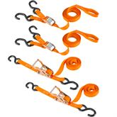 VH-Strap-RC-10-O 1 x 10 Cam Buckle  Ratchet Straps Kit with S-Hooks - 4-pk