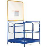 WP-3636-84B-DD Vestil Dual Door Work Platform with 84 H Back - 36 W x 36 L