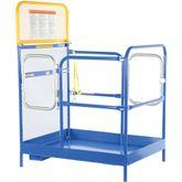 WP-3636-DD Vestil Dual Door Work Platform - 36 W x 36 L