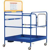 WP-3648-CA Vestil Work Platform with Casters - 36 W x 48 L