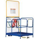 WP-4848-84B-DD-FF Vestil Full Featured Dual Door Work Platform with 84 H Back - 48 W x 48 L
