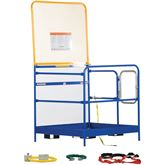 WP-4848-84B-FF Vestil Full Featured Work Platform with 84 H Back - 48 W x 48 L