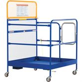 WP-4848-CA Vestil Work Platform with Casters - 48 W x 48 L