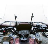 Front view of an attached quad windshield