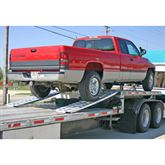 The 4000 lb 16 foot dropdeck ramps are lightweight car ramps and easy to set up.