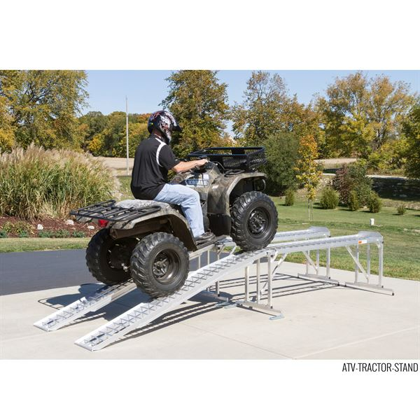 Garden Tractor Work Stand : Aluminum atv lawn tractor stand lb capacity
