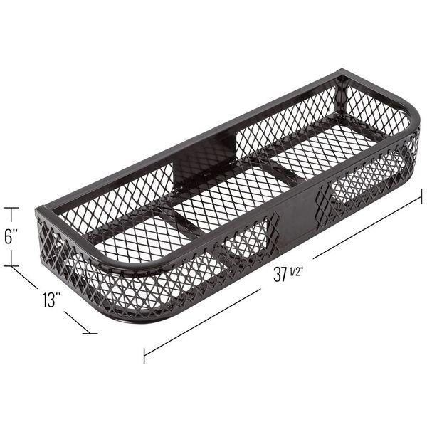 Black widow steel mesh atv front rack basket discount ramps for Fish basket walmart