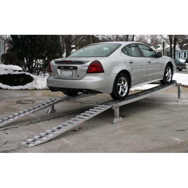 Ramp For Car >> Extra Long Aluminum Car Service Ramps Display Stand 3 000 Lbs
