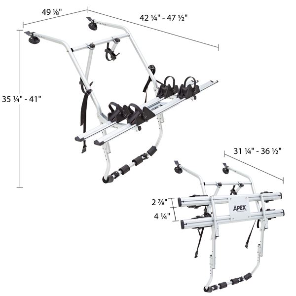 Apex Trunk-Mounted Bike Rack