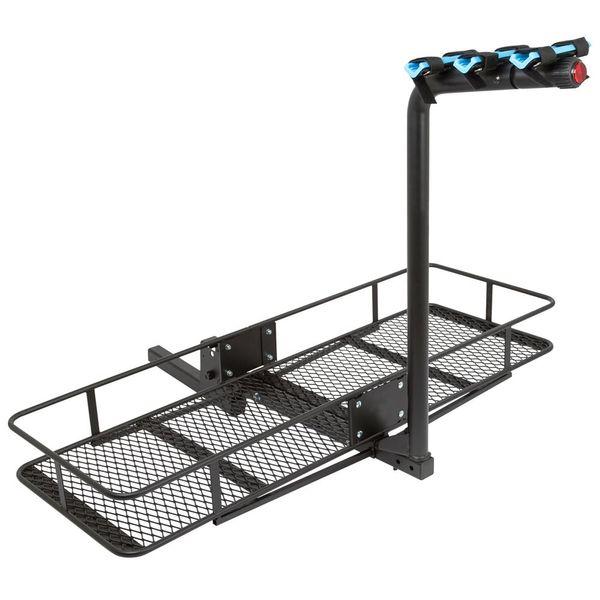 Apex Blue Devil Steel Hitch Bike Racks With Basket Cargo