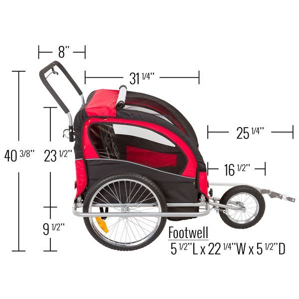 5dc283a96f5 Apex Double Stroller and Bike Trailer | Discount Ramps