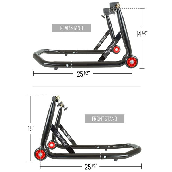 Avg Motorcycle Lift Dimensions : Black widow front pin rear swingarm motorcycle stand kit