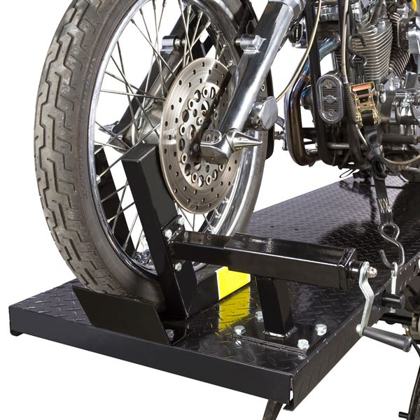Black Widow Extra Long Pneumatic Motorcycle Lift Table