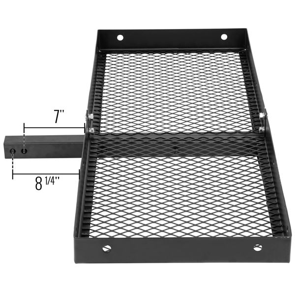 """Apex CC-4820-DLX 48/"""" Long Steel Tray Hitch Cargo Carrier"""