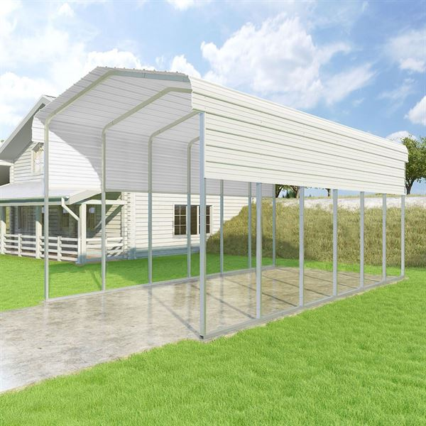 White 14 Tall Versatube Rv Carport Discount Ramps