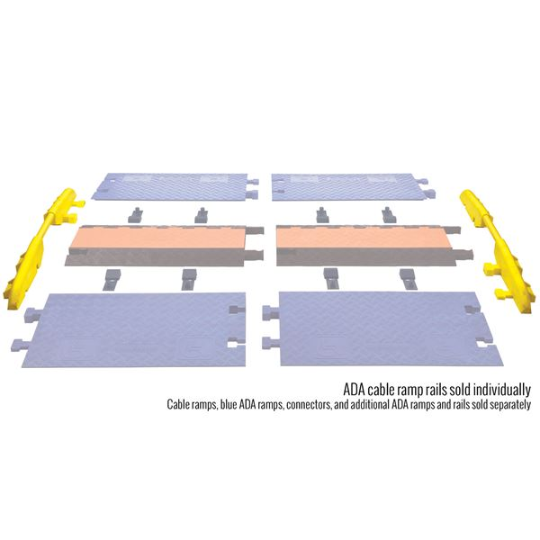 Cross guard ada wheelchair cable ramp rail for channel