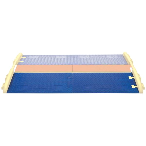 Cross guard ada wheelchair cable ramp for channel