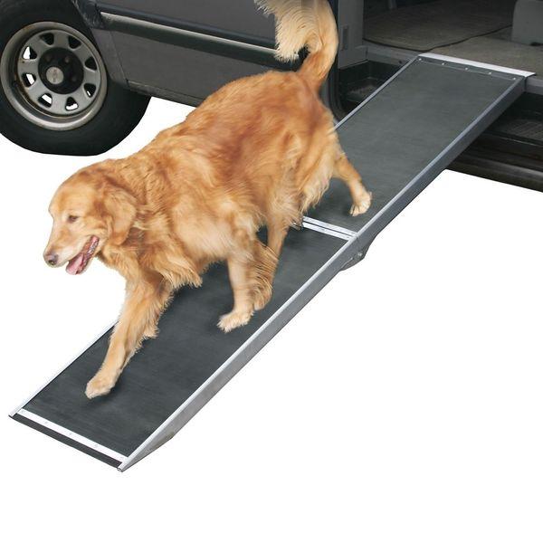 Pet Ramp For Car >> 8 Long Lightweight Portable Folding Aluminum Pet Ramp