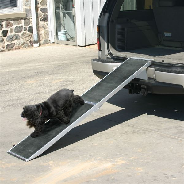 Dog Ramp For Car >> 8 Long Lightweight Portable Folding Aluminum Pet Ramp