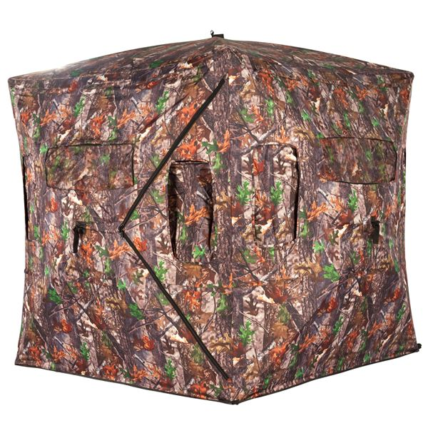 two bit pop man blinds popup up pin real bag new tree hunting camo w blind