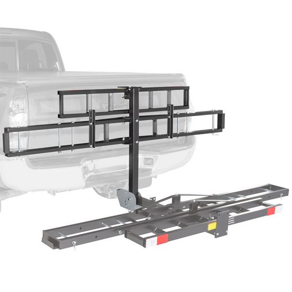 Black widow steel folding motorcycle carrier 500 lbs for Can a motor carrier broker freight
