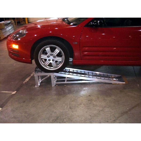 Low Car Ramps >> Mini Lift Aluminum Low Profile Car Service Ramps 3 000 Lbs