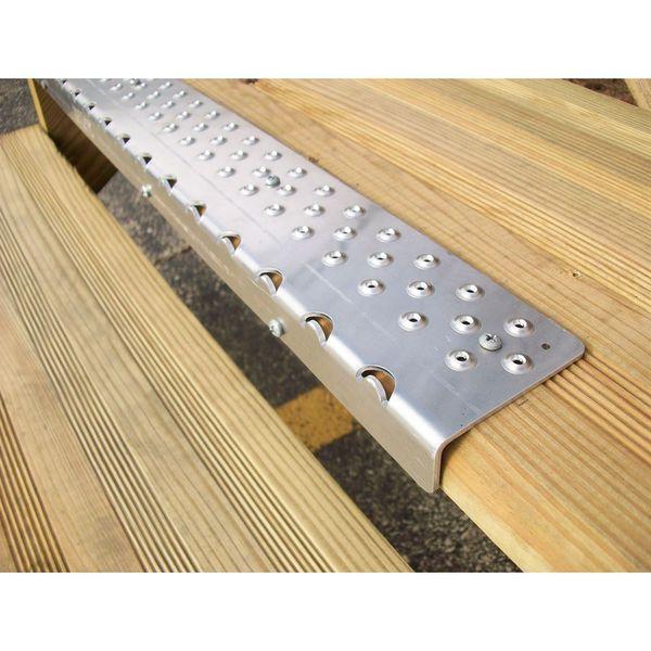 NSN 200 Handi Ramp 30 Non Skid Stair Nosing Plain Aluminum 1