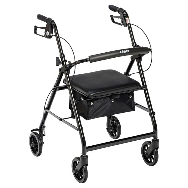 Drive Medical Walker Rollator With 6 Wheels