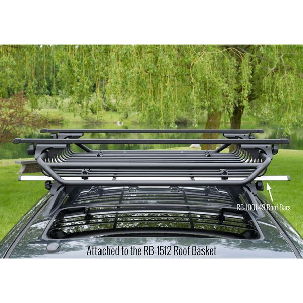 Merveilleux RB 1006 49 Apex Carbon Steel Deluxe Universal Side Rail Mounted Roof  Crossbars 55