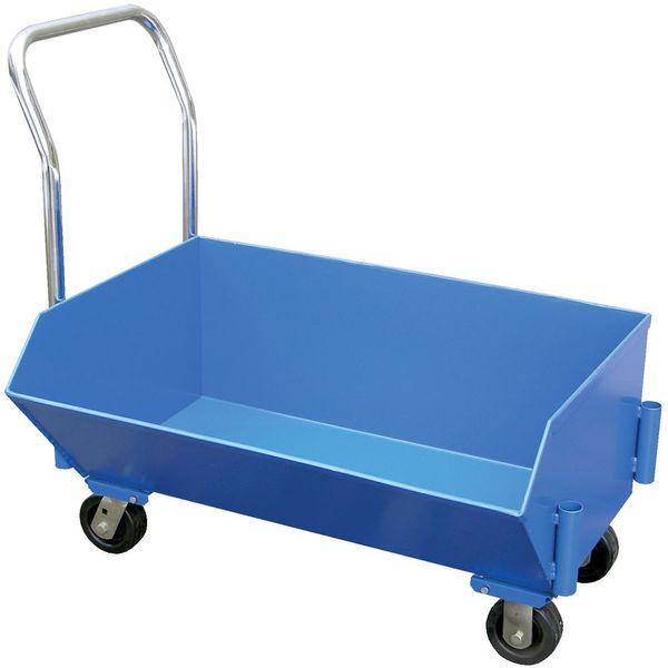Portable Self Dumping Hoppers : Vestil cu yd low profile portable hopper discount