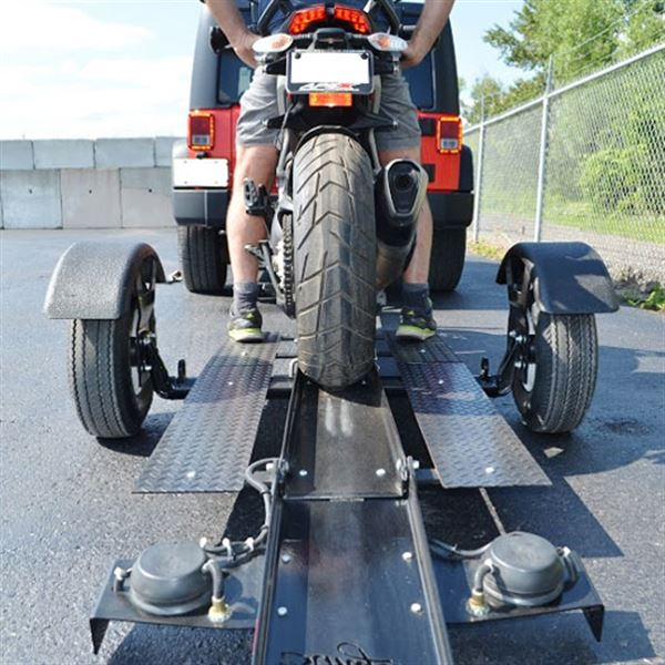 Drop Down Hitch >> Stinger Folding Motorcycle Trailer | Discount Ramps