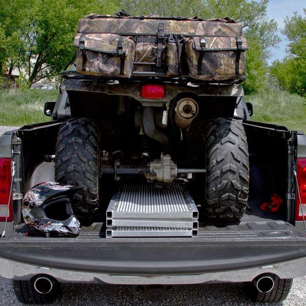 Atv Truck Ramps >> Black Widow Aluminum Extra Wide Punch Plate Tri Fold Atv Ramp
