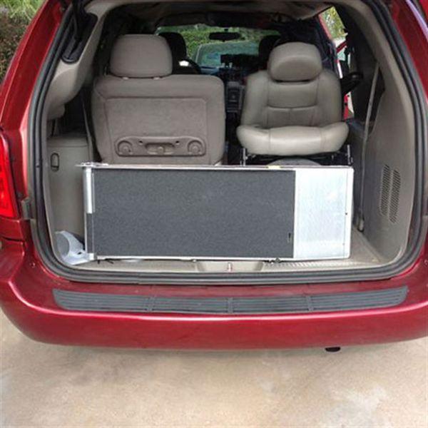 Pvi Aluminum Multi Fold Rear Door Wheelchair Van Ramp