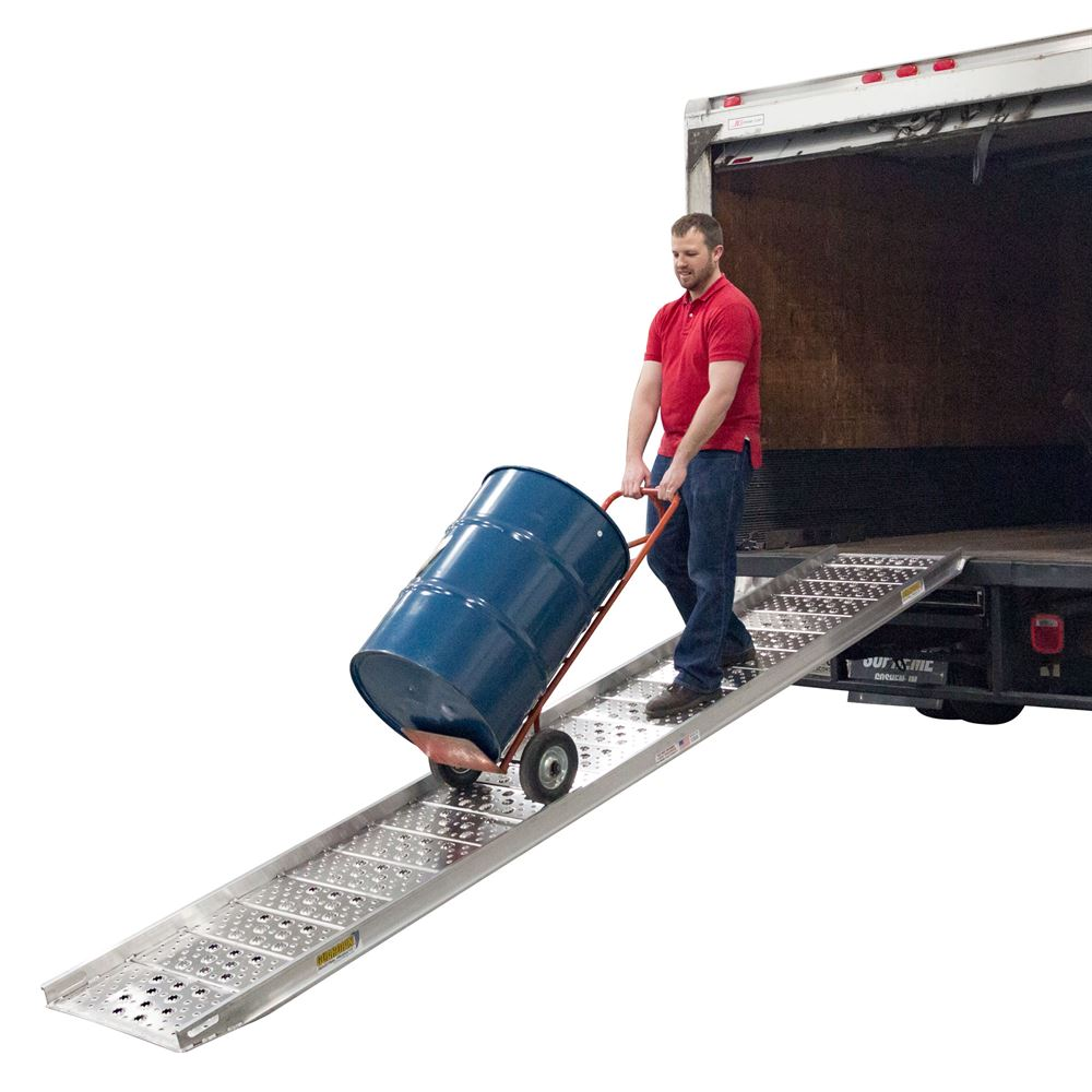 01-26-144-06-WALK-P 12 Long x 26 Wide - 1500 lb Capacity Guardian Plate-End Aluminum Punch Plate Walk Ramp