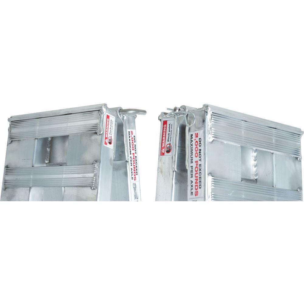 02-12-144 Aluminum Folding Smart Car Trailer Ramps - 2000 lb per axle Capacity 3