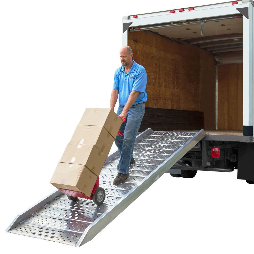 02-37-120-06-WALK-P 10 Long x 40-12 W Plate-End Aluminum Walk Ramp - 2000 lb Capacity