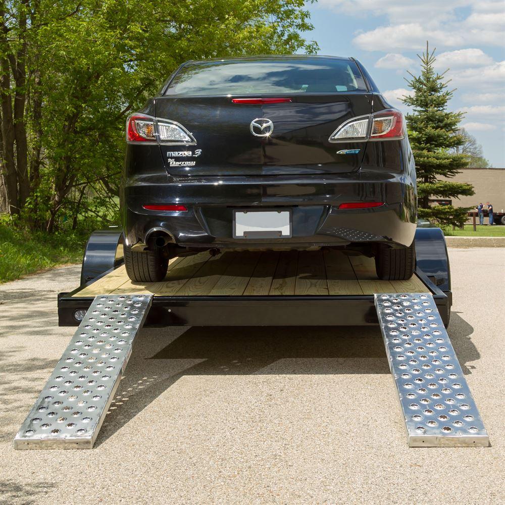 EZ Traction Aluminum Hybrid End Car Trailer Ramps