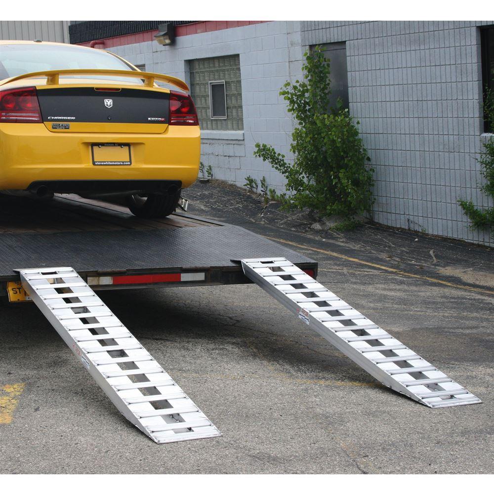 Low Car Ramps >> Aluminum Hook End Car Trailer Ramps Low Profile 94 L X 15 W