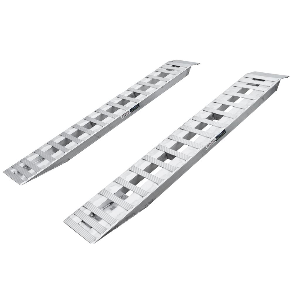 05-15-094-06 7 10 L x 15 W Aluminum Plate End Car Trailer Ramps - 5000 lb per axle Capacity