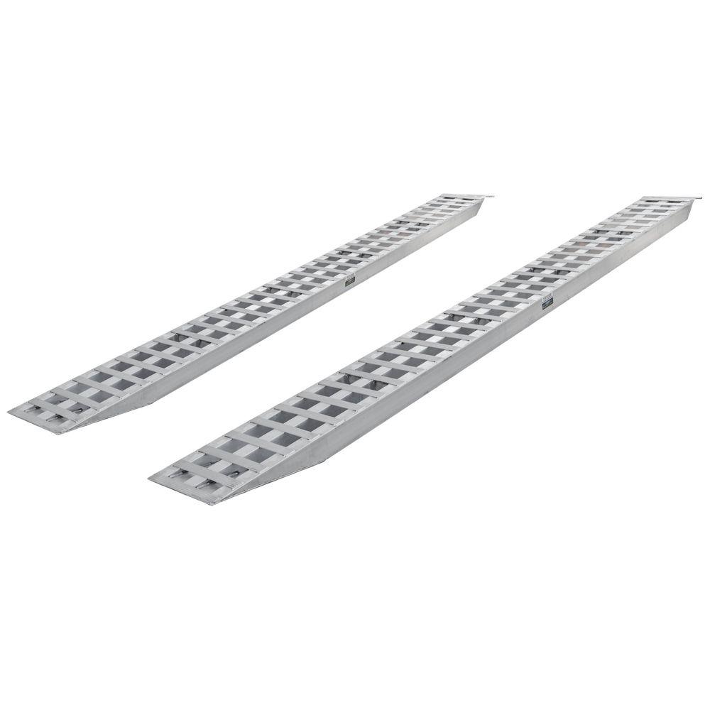 05-18-192-06 16 L x 18 W Aluminum Plate End Car Trailer Ramps - 5000 lb per axle Capacity
