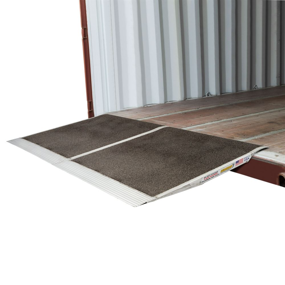 05-36-036-06-Grit-2 36 L x 72 W Guardian Aluminum Grit Shipping Container Ramps - 10000 lb Capacity