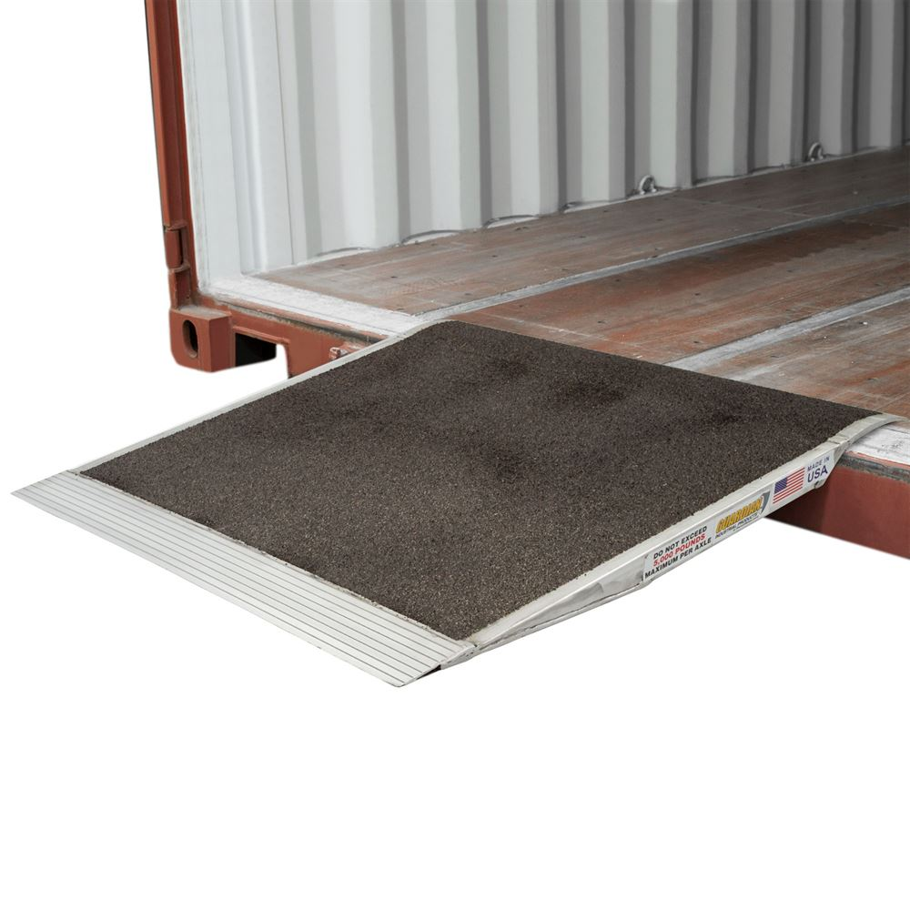 05-36-036-06-Grit 36 x 36 Guardian Aluminum Grit Shipping Container Ramp - 5000 lb Capacity