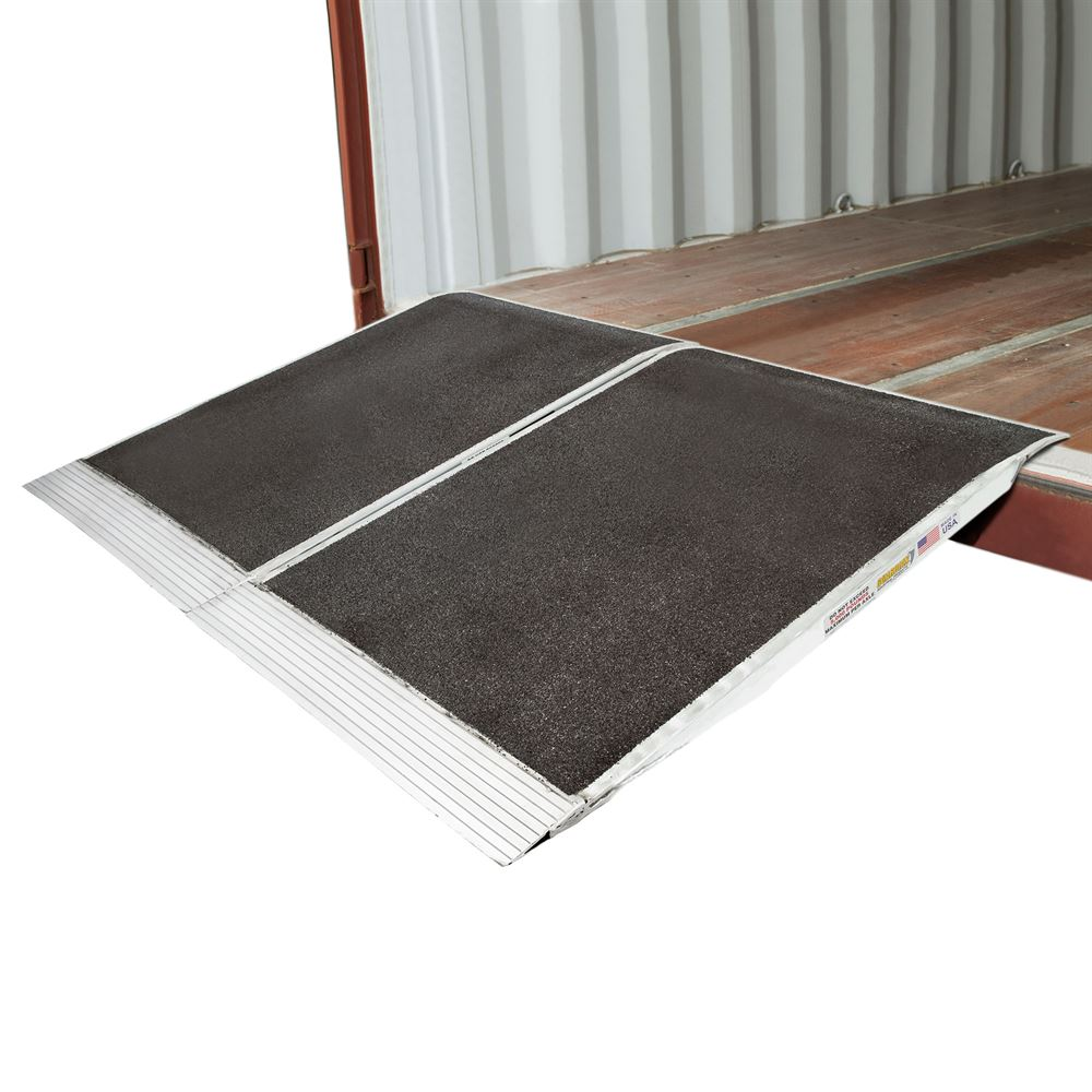 05-36-048-06-Grit-2 48 x 72 Guardian Aluminum Grit Shipping Container Ramps - 10000 lb Capacity
